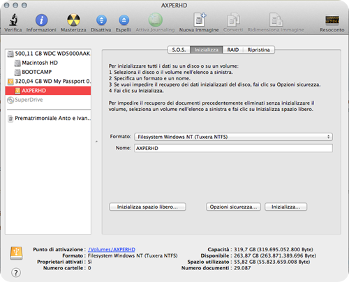 HardDisk su Windows e su Mac