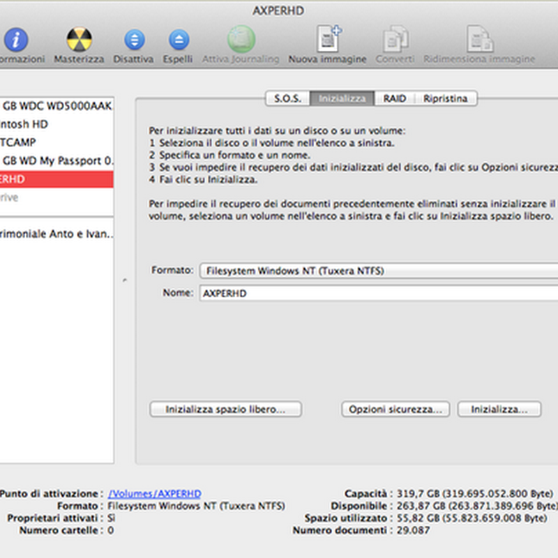 Come utilizzare un Hard Disk su Windows e su Mac.