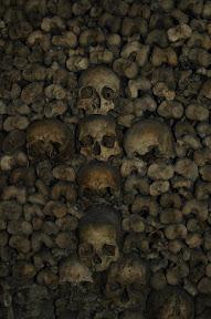 Skulls in the shape of a cross