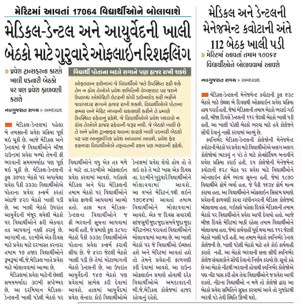Updates News: Today's All Gujarat Educational News Daily Updates:-28-09