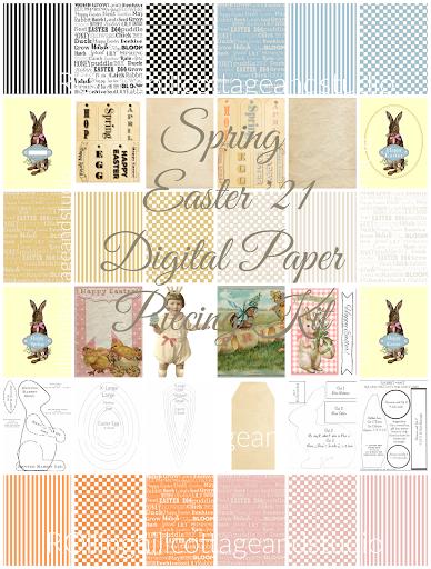 Spring / Easter '21  Digital Paper Piecing kIt
