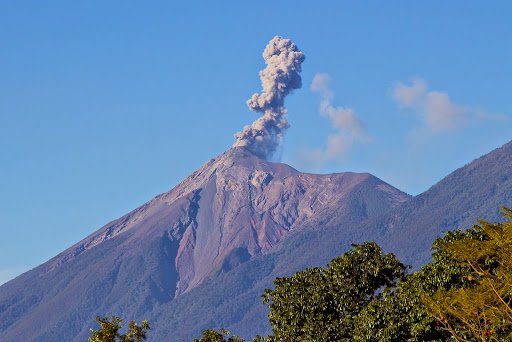 Fuego erupting. Acatenango Volcano. From Hit The Road to Antigua: Top Five Road Trip Destinations of Guatemala
