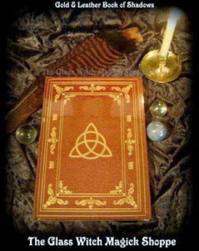 Gold And Leather Triquetra Book Of Shadows 13 00