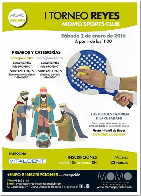 I Torneo Pádel Reyes Momo Sports Club La Dehesa 2 Enero 2016.