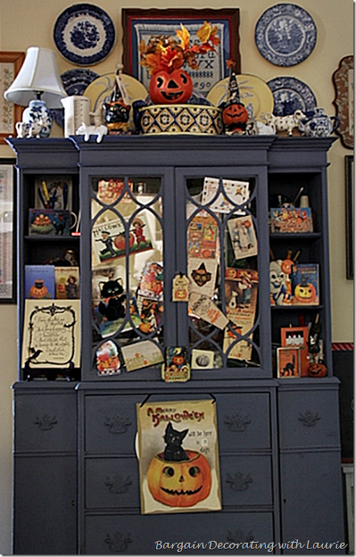 Halloween Decor-Kitchen Hutch 2
