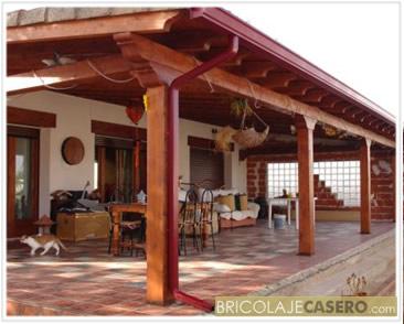 Porches de madera un toque especial pergolas sevilla - Madera para porches ...