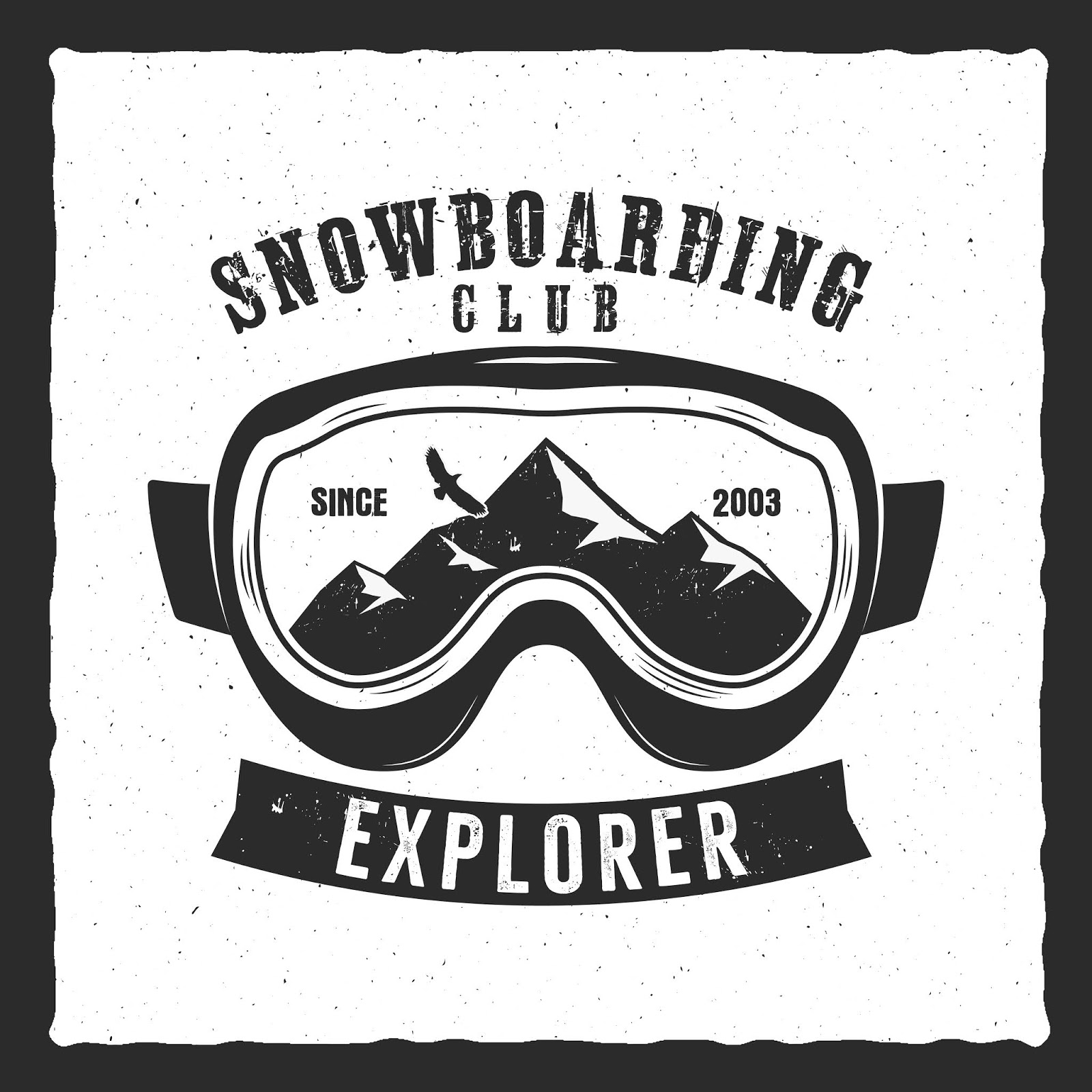 Snowboarding Goggles Extreme Logo Free Download Vector CDR, AI, EPS and PNG Formats