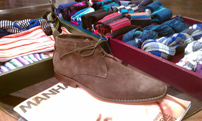 Ted Baker socks and Ashcrof brown suede desert boots
