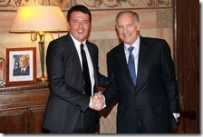 Matteo Renzi con l'ambasciatore USA Phillips