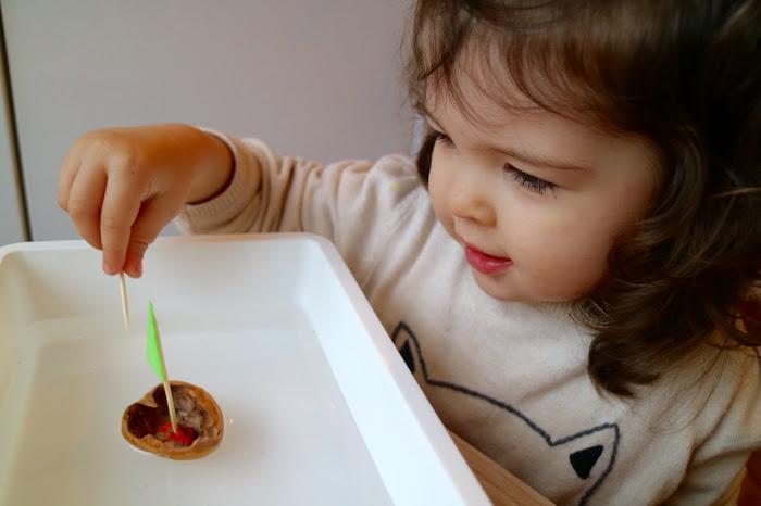 Cracking Walnuts Montessori activity