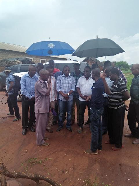 Magarini MP Michael Kingi visit the affected families. PHOTO | BANA