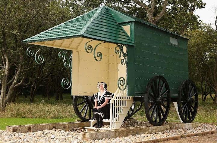 As máquinas de banho do século 19