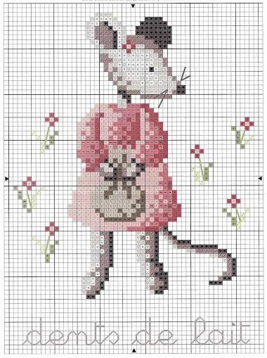 teneri topolini a punto croce-schema topolino a cross stitch