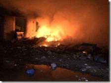 Incendio campo Rom di Scampia
