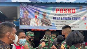 Taruna dan Mahasiswa Satlat ELANG Bagikan Masker di Desa Sekip Lubuk Pakam