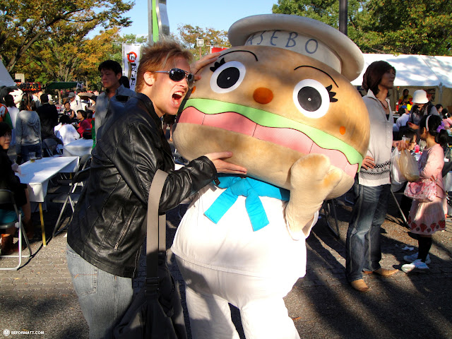 sasebo burger at kyushu festival in shibuya in Shibuya, Tokyo, Japan
