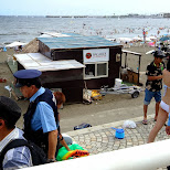 police at enoshima beach in japan in Fujisawa, Kanagawa, Japan