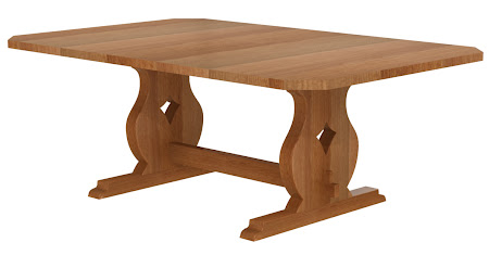 """64"""" x 48"""" Bordeaux Conference Table in Natural Cherry"""