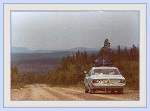 Foto: Vi, på väg till Laurila, Ajanki, Finland, 1968 i vår nya bil.
