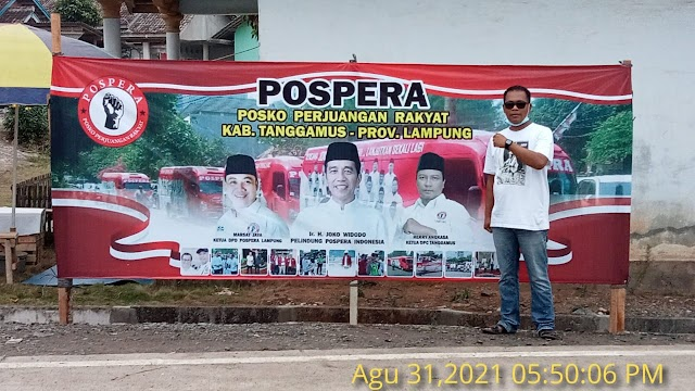 Pospera Pringsewu Protes Pencopotan Banner Ucapan Selamat Datang Presiden