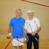 Men 75+ winner Lew Holmes and finalist Doug Lee