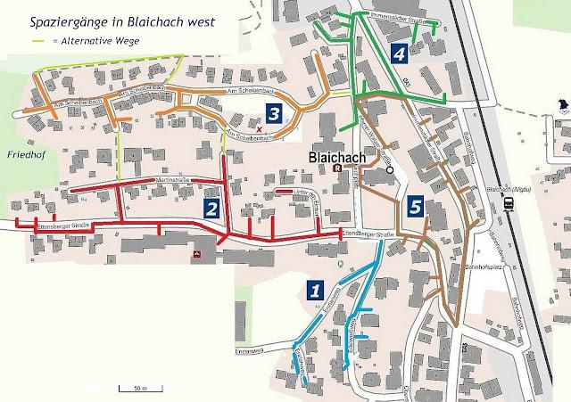 Karte spazieren in Blaichach, Allgäu