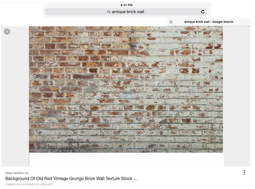 Faux brick wall inspiration