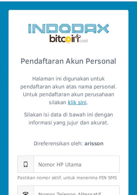 Cara daftar Indodax Bitcoin Indonesia