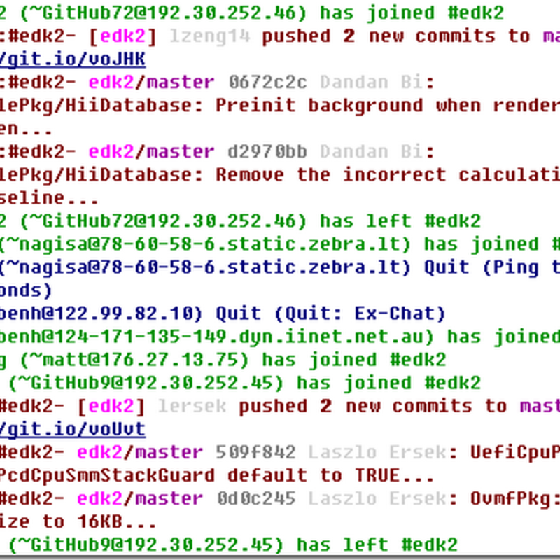 Talking edk2 on IRC