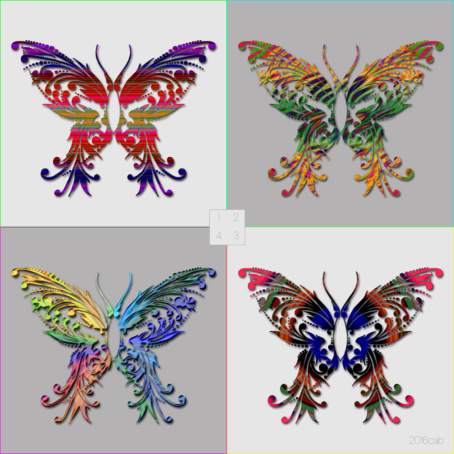 papillons multicolores dessin - Dessin Papillons