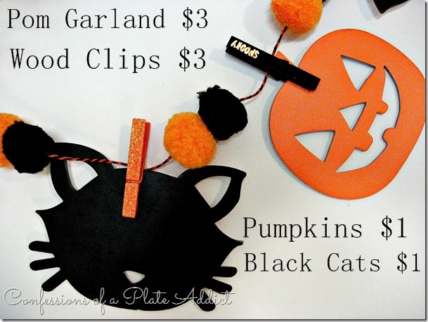 CONFESSIONS OF A PLATE ADDICT Easy $8 Halloween Garland supplies