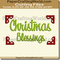 christmas blessings title corners ppr-cf-200