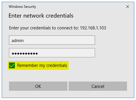 Window Credential