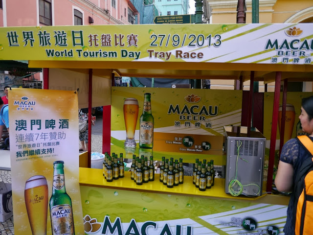 Macau Beer booth for the World Tourism Day Tray Race in Macau