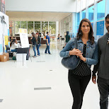serge & nicole at computer history museum in silicon valley in Mountain View, California, United States