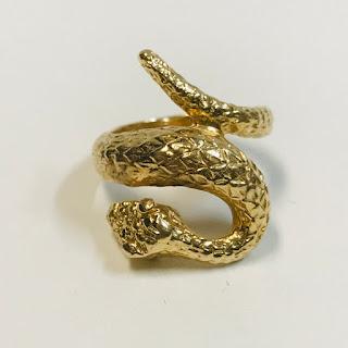 14K Gold Snake Ring