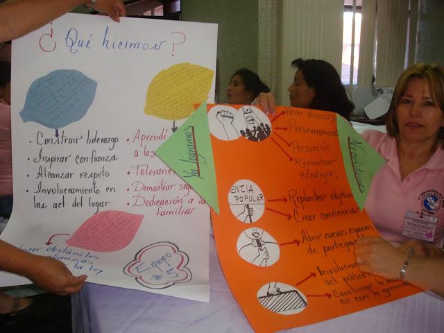 Elsita Villeda del departamento de Copán, mostrando cómo trabajan las mujeres hondureñas.