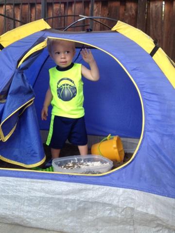 Coconut Love Repurpose A Kids Tent Into A Sandbox
