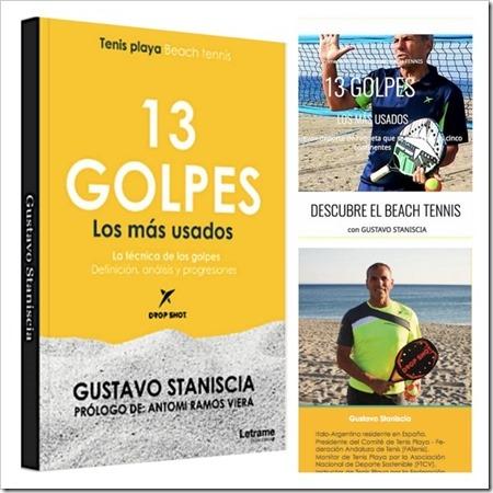Libro 13 Golpes. Los más usados en Tenis Playa / Beach Tennis ya en la calle.