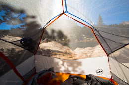 Booth Lake tent view