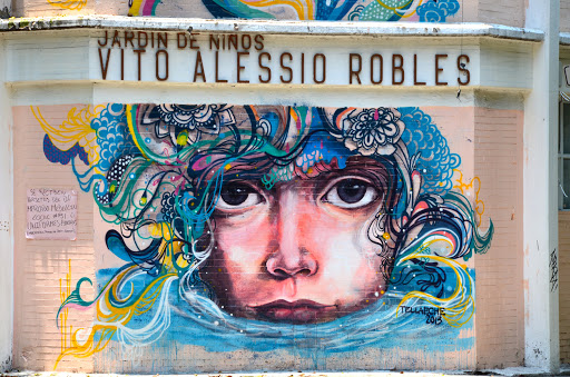 Street art, Mexico City. From Go Eat Give combines travel, food, and volunteering