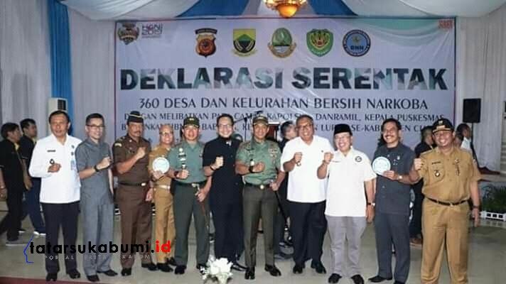 Sukabumi Bogor Cianjur dan Purwakarta Launching Siparel dan Deklarasi Bersih Narkoba