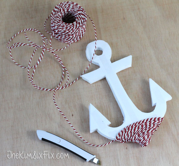 Twine wrapped anchor shape