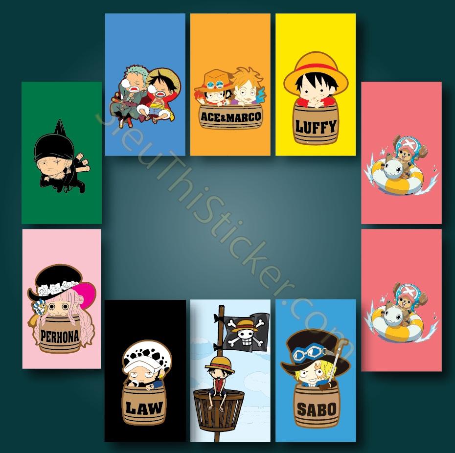 sticker phim hoạt hình đảo hải tặc
