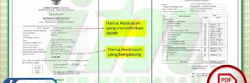 Penulisan Blanko Ijazah Madrasah 2020/2021