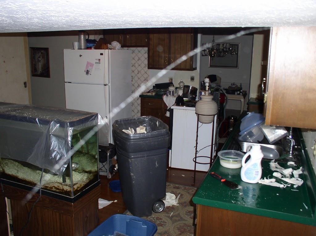 Destroyed kitchen