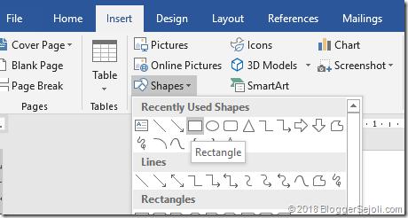 Membuat Kotak Di Microsoft Word