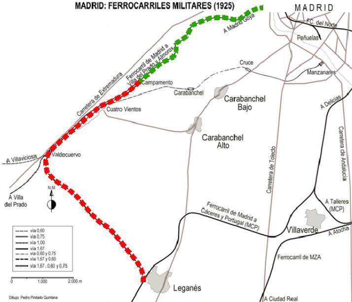Vía Verde del Ferrocarril Militar. Estado actual