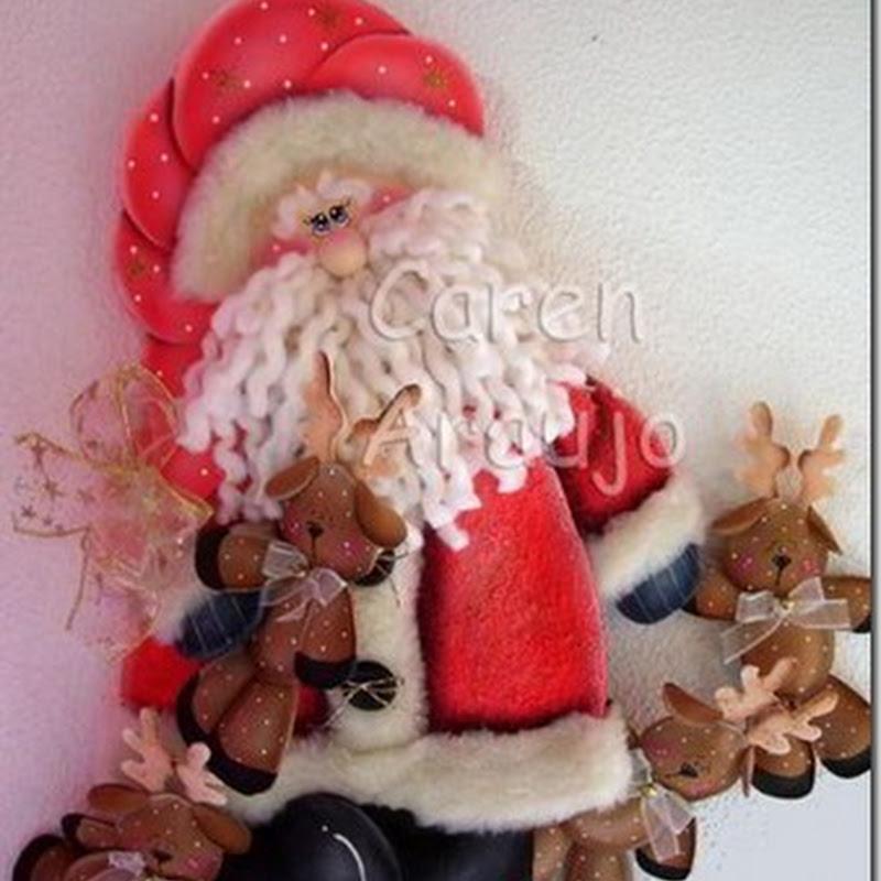 Manualidades papá Noel en foam
