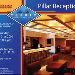 Pillar Reception at Casale Pizzeria